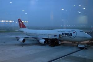 準備搭乘的班機